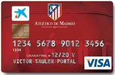 Producto Tarjeta Visa Atlético de Madrid de CaixaBank