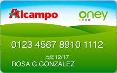 Producto Tarjeta Alcampo de Oney