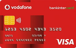 Producto Tarjeta Visa Vodafone de Bankintercard